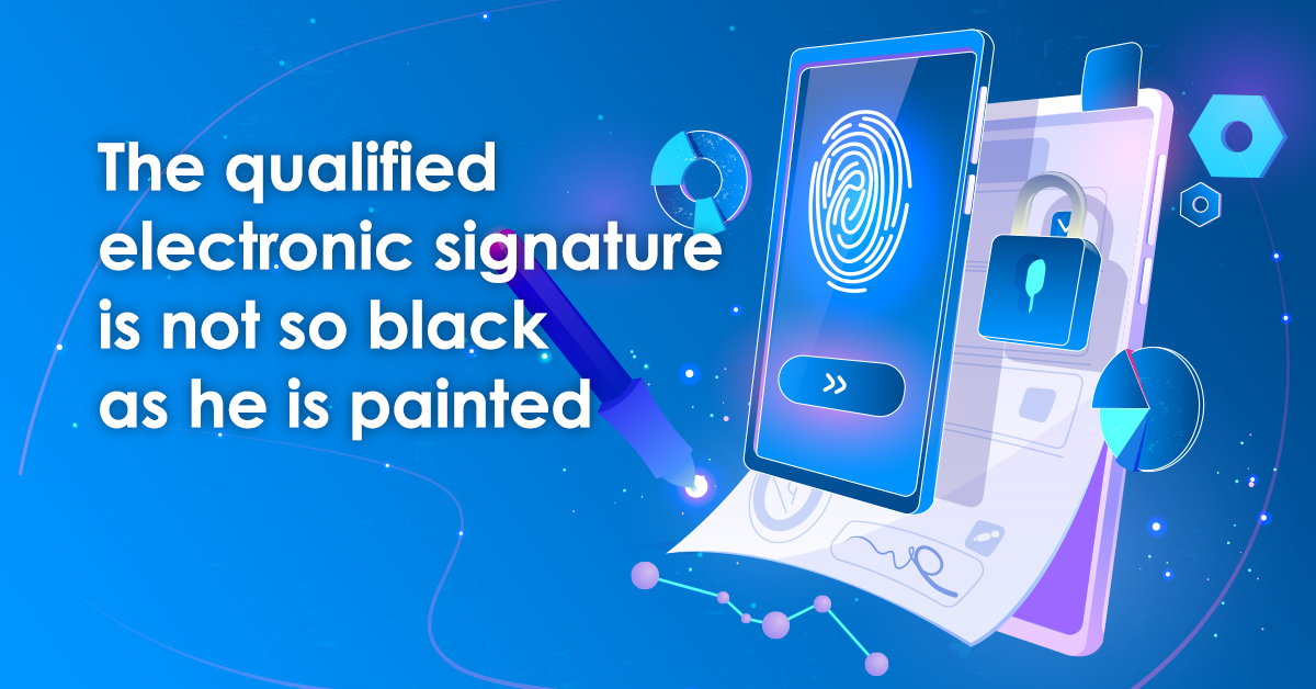 The qualified electronic signature is not so black as he is painted